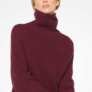 Michael Kors Pearl Red Turtleneck Sweater NWT